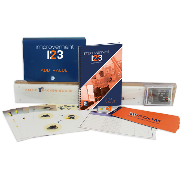 lean 8 wastes kit, value add non value add
